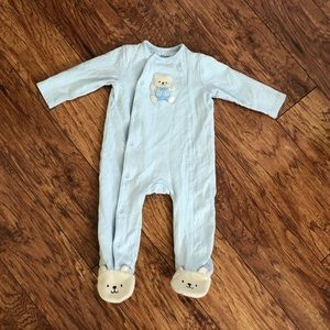 Baby Bear Footed Pajamas, 9 Months